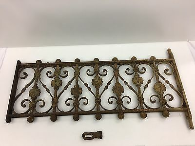 Antique Wrought Iron Window Gate Guard Architectural Salave
