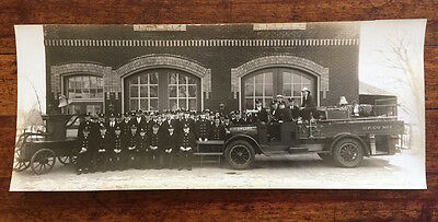 1929 Upland Fire Co Chester hand pump long photograph Delaware County PA Penna