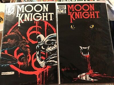 Moon Knight #29 & #30 Werewolf Story NM+ Marvel 1982 Hot! Rare! Lot of 2