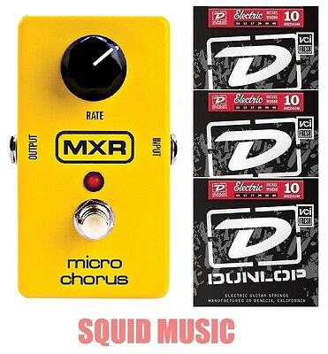 MXR Dunlop M-148 Micro Chorus Guitar Effects Pedal M148 ( 3 SETS OF STRINGS )