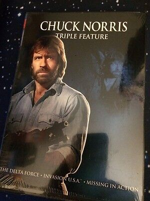 Chuck Norris Triple Feature 3-DVD Set(DVD,2012)Missing In Action Brand New