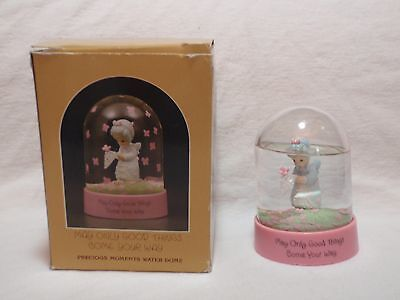 """1986 Precious Moments """"May Only Good Things Come Your Way"""" Water Dome 554693"""