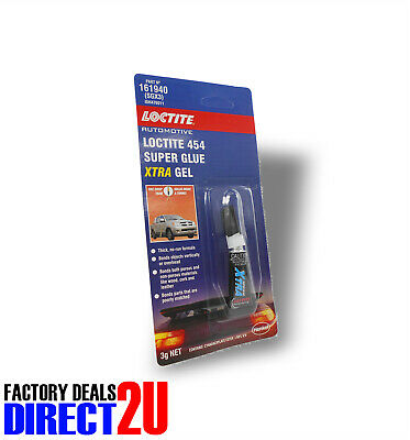 LOCTITE 454 Super Glue XTRA Gel - Cures In Seconds Holds A Tonne! 3g #SGX3