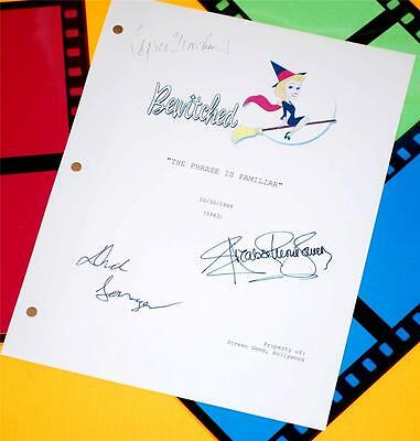 Bewitched Signed Script Elizabeth Montgomery  Dick Sargent  Agnes Moorehead