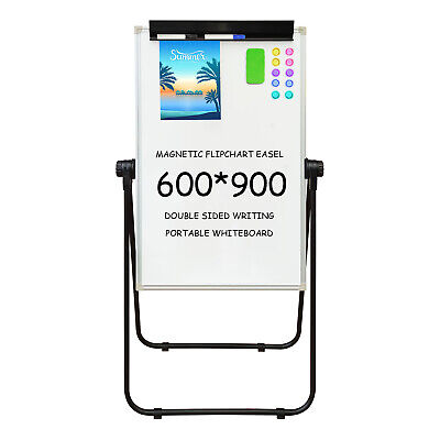 60*90cm Flipchart easel adjustable magnetic whiteboard U Type