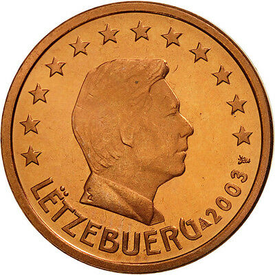 [#461827] Luxemburg, 2 Euro Cent, 2003, STGL, Copper Plated Steel, KM:76