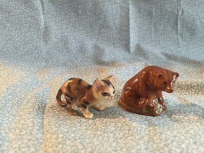 4 Small Animal Figurines - Glass, Porcelain