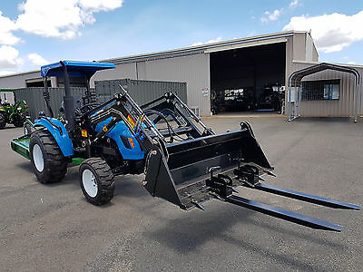 Farm Fest Tractor Special Bonus 4ft Slasher + Clamp on Pallet Forks