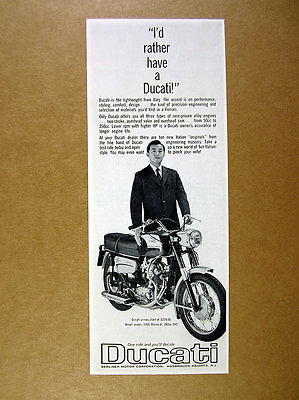 1966 Ducati Monza Jr 160cc motorcycle photo vintage print Ad