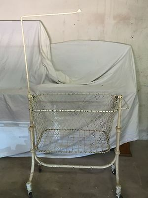 Antique Iron Baby Bassinet