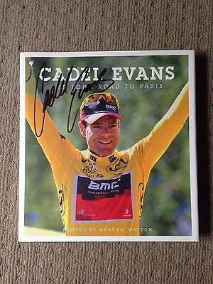 2011 Tour De France Champion Cadel Evans Signed Book + Photo Proof