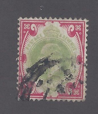 Great Britain, Scott #138, 1sh Carmine & Light Green, Used