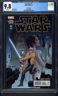 Star Wars #1 (2015) Hot Topic Recalled Variant - CGC 9.8 White pages