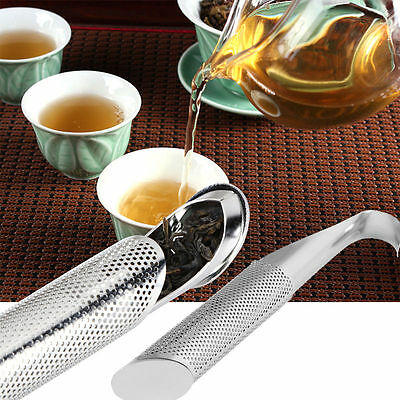 Stainless Steel Stick Tea Bag Squeezer Infuser Filter Strainer Brew Herbal Spice