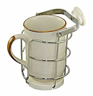 Gimbal Stainless Steel Cup Mug Holder up to 87mm