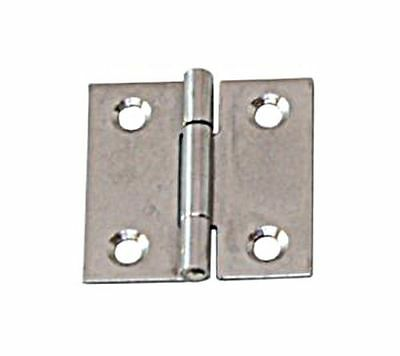 Angular Hinge Stainless Steel Satin Finish 80 x 80 x 1.5mm