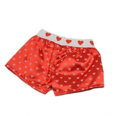 "Red Heart boxers boxer shorts teddy bear clothes fits 15"" Build a Bear"