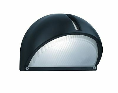 Black Aluminium Half Moon Outdoor Garden Wall Light - Searchlight 130