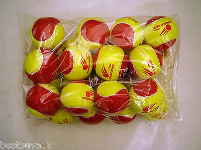 72 Stage 3 Low Compression Tennis Balls For Age 2-8 Yrs