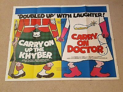 Carry On Up The Khyber/Carry On Doctor - Double Bill Original UK Quad Poster