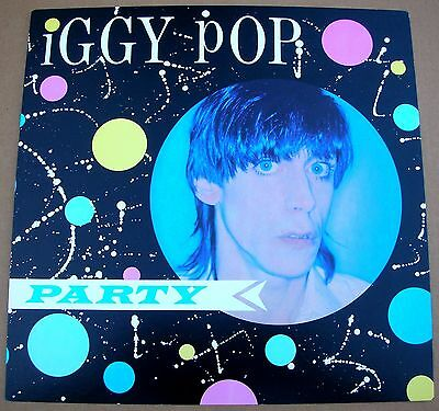 IGGY POP Party 1 Sided Promo 12x12 Poster Flat 1981 Mint-