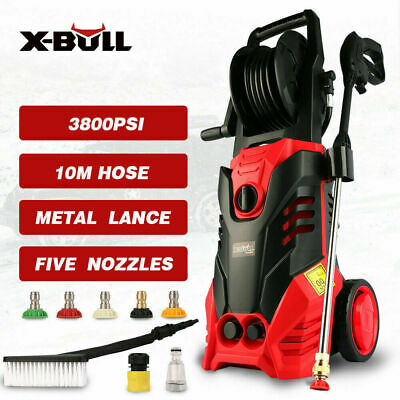 X-BULL 3400 Psi High Pressure Water Washer Cleaner Electric Gurney Pump Hose