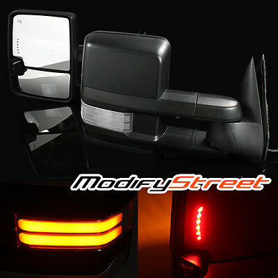 For 2002-2006 Tahoe Power/heated Clear Cob Led Signal Extendable Towing Mirrors