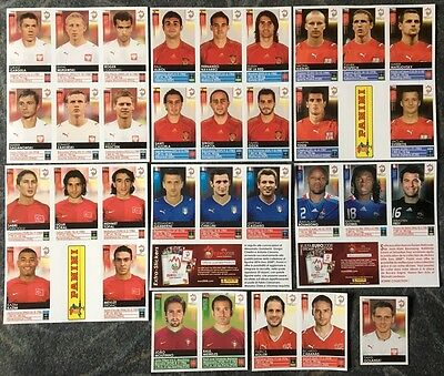 Panini Euro 2008 stickers complete update set of 33 extra stickers MINT Rare