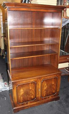 Tall Flame Mahogany Bookcase Cupboard