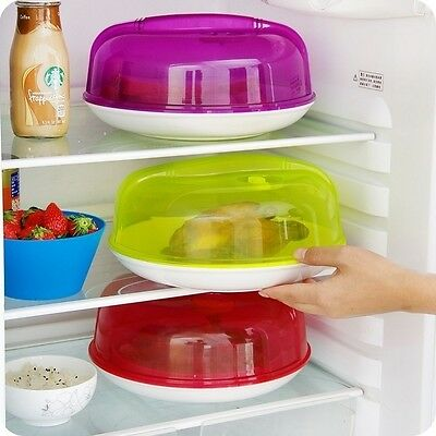 Plastic Ventilated Microwave Food Plate Dish Cover Kitchen Lid Safe Cooking Tool
