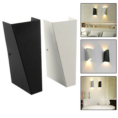 10W Modern LED Wall Light Up Down Cube Indoor Outdoor Sconce Lighting Lamp