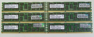 6x8GB HP 500205-071 PC3-10600R ECC DDR3 Memory HP IBM DELL LENOVO Lot 300