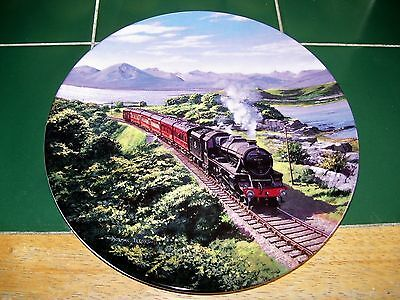 Royal Doulton Railway Plate - The Purple Mountain By Norman Elford