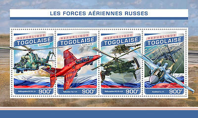 Togo 2016 Russia Air Forces Planes Helicopter S/S TG16510