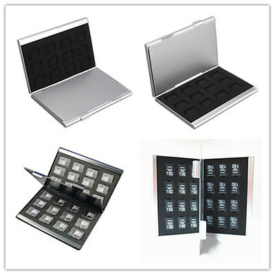 Aluminum Memory Card Storage Case Box Protector Holders For 24 Micro SD/TF Cards