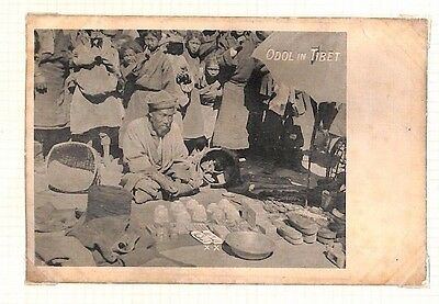 DBAP64 TIBET Picture Postcards/Two Unused PPCs. 'Odol in Tibet' & 'Tibetan Tomb'