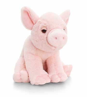 Keel Toys Wild 16cm Pink Pig /Piglet With Sound Cuddly Soft Toy Plush Teddy