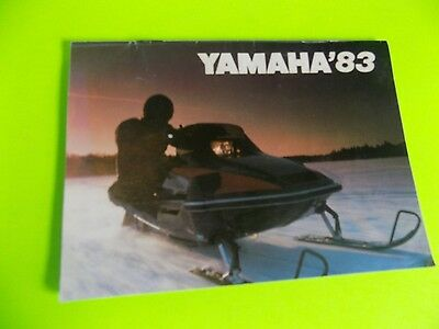 Vintage Yamaha 1983 Snowmobile Snow Machine Booklet Catalog Information