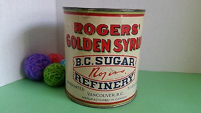 Vintage Tin Roger's Golden Syrup BC Sugar Refinery Vancouver BC 5 LB