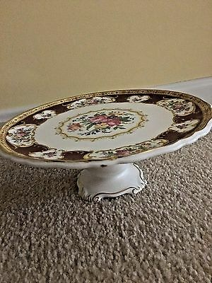 Royal Albert Lady Hamilton Footed Cake Plate