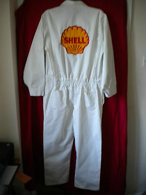 Goodwood Revival Ready Reproduction Retro Shell Embroidered Cotton  Overalls