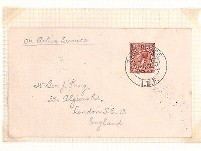 DBAP74 1920 GB USED INDIA MILITARY Quetta 'Base Office/IEF' CDS/ London