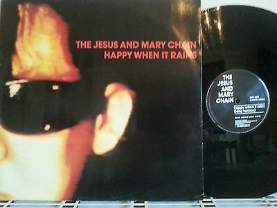 "The Jesus and Mary Chain 12"" Vinyl  Happy when it rains. Excellent. A1 B1"