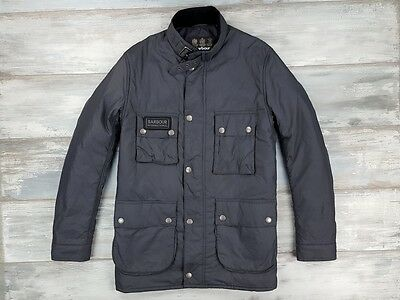 Barbour Men's Jacket International Padded Grey Size L Large