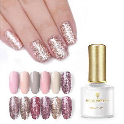 BORN PRETTY 5/10ml Rose Gold UV Gel Nail Polish Soak off LED Glitter Varnish DIY