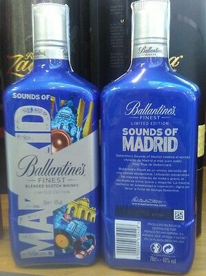 Ballantine's Ballantines botella whisky bottle Limited Edition Sounds of Madrid