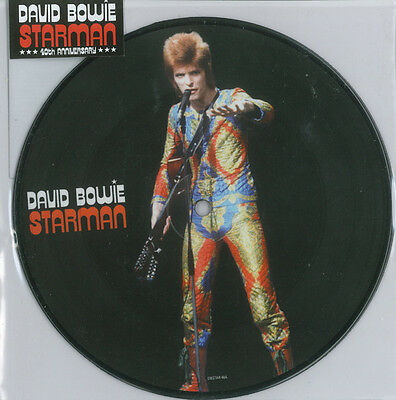 "David Bowie Starman Picture Disc 7"" 40th Anniversary"