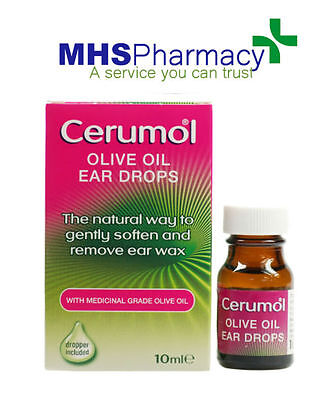 Cerumol Olive Oil Ear Drops 10ml  medical grade 100% olive oil with dropper