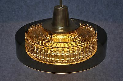 Pendant light by Carl Fagerlund with Orrefors Glass shade and Brass Mounting