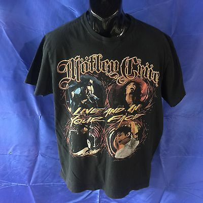 Adult Large Black 2011 Motley Crue Live And In Your Face Concert T-Shirt Rock